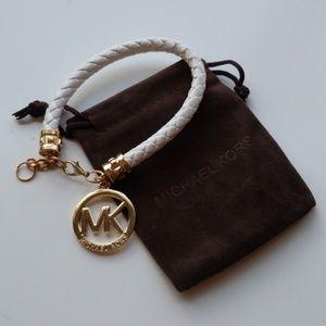 Michael Kors leather bracelet white